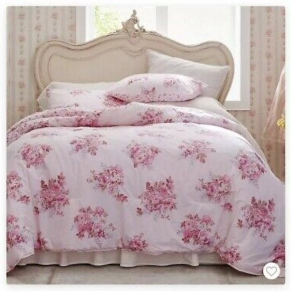 Simply Shabby Chic Bedding Nip 100 Cotton Blush Bouquet Poshmark